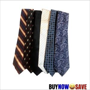 Lot of 6 Assorted Mens Silk Ties
